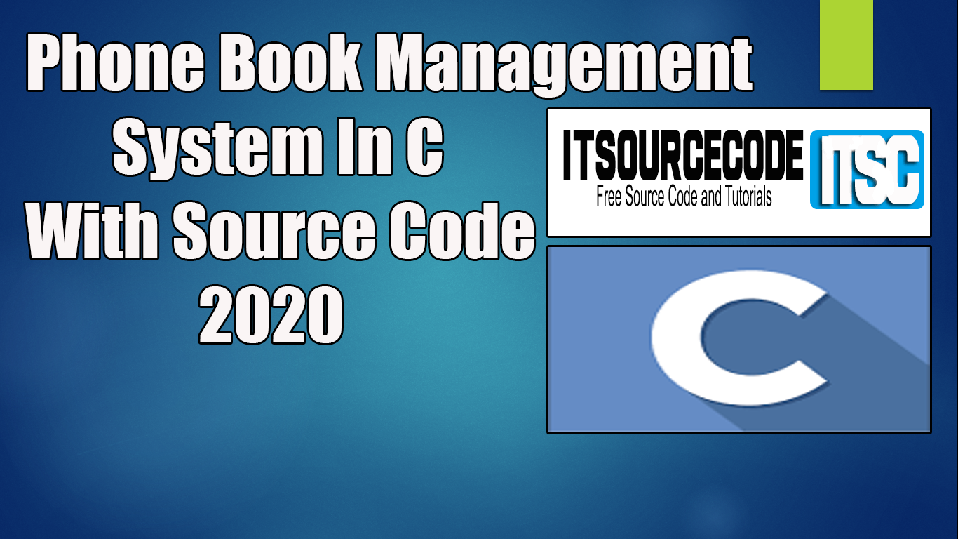 Phone Book Management System In C