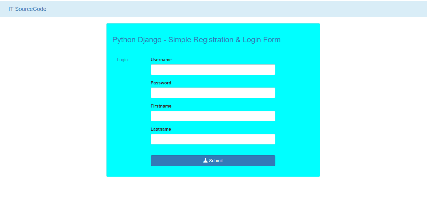 Django Login And Registration With Source Code
