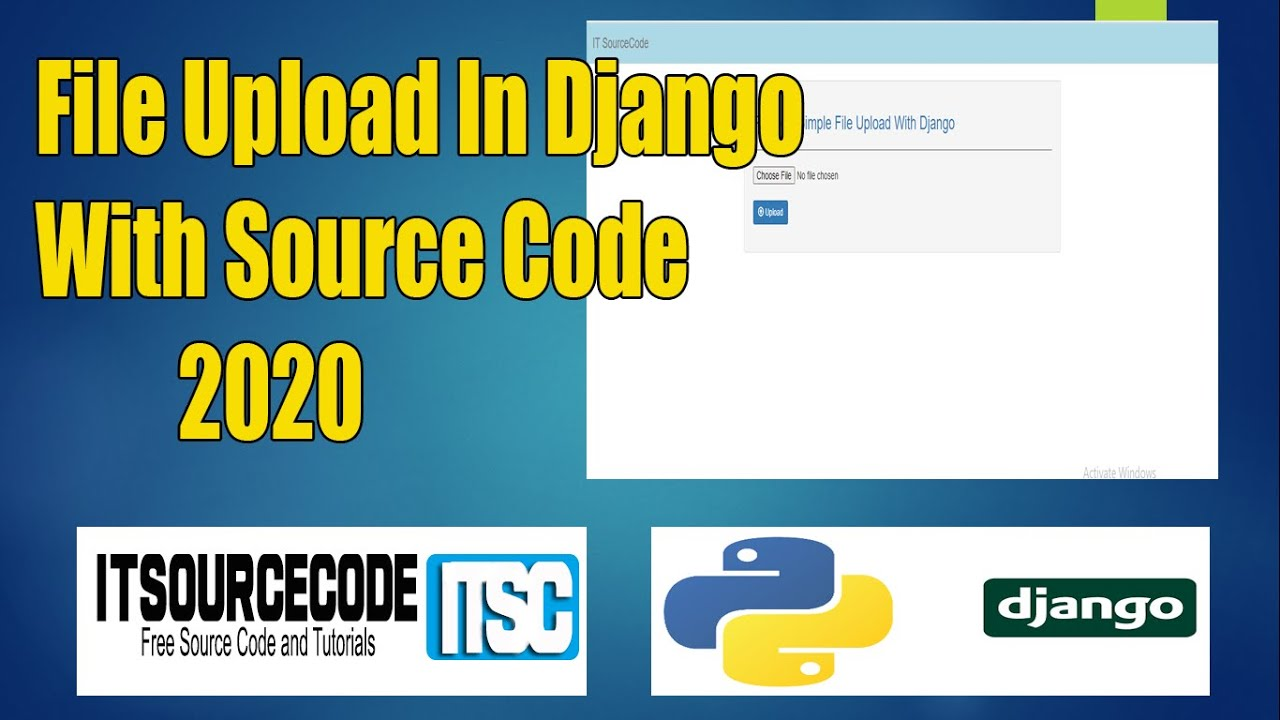 File Upload In Django With Source Code