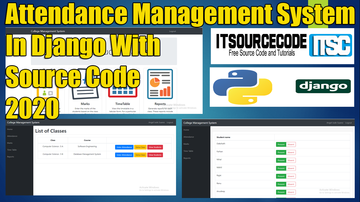 Attendance Management System Django With Source Code