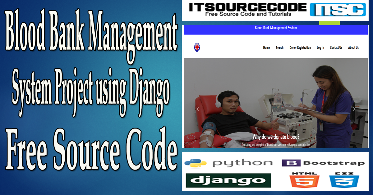 Blood Bank Management System Project in Django with Source Code