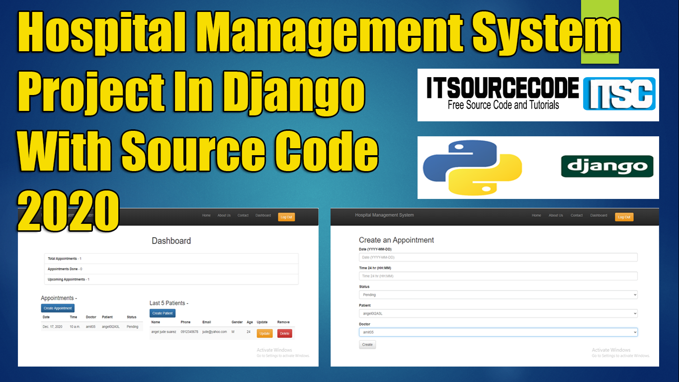 Hospital Management System Project In Django
