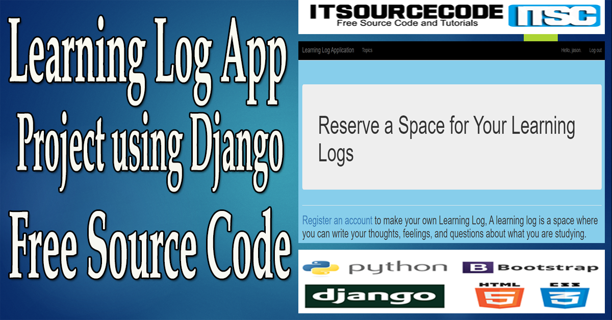 Learning Log App Project in Django with Source Code