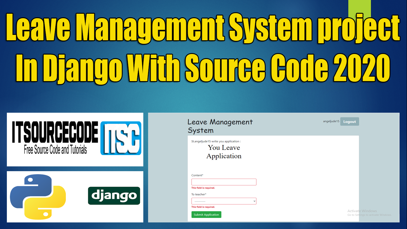 Leave Management System Project Django