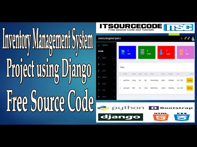 Inventory Management System Project using Django with Source Code