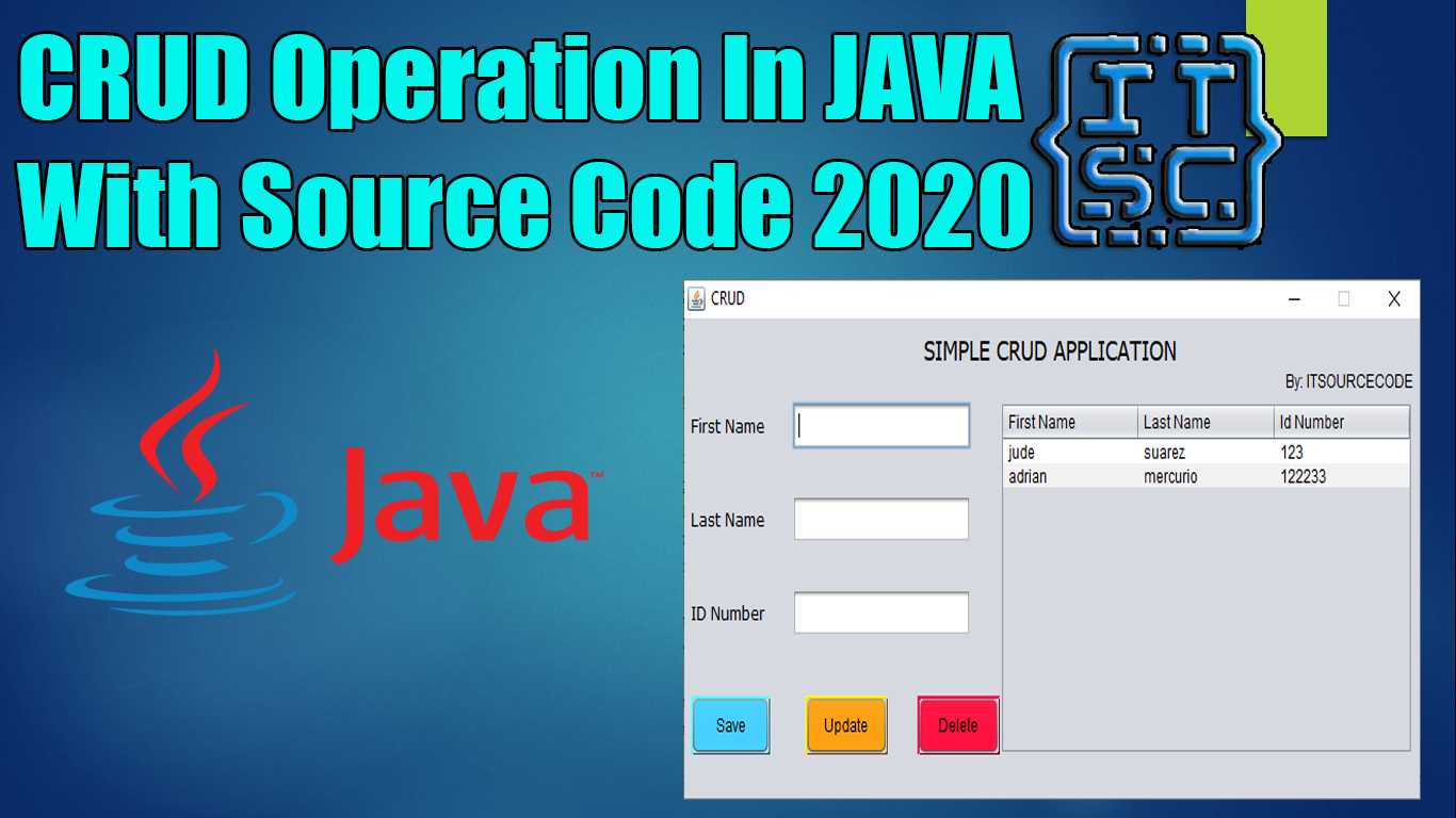 CRUD Operations In Java With Source Code