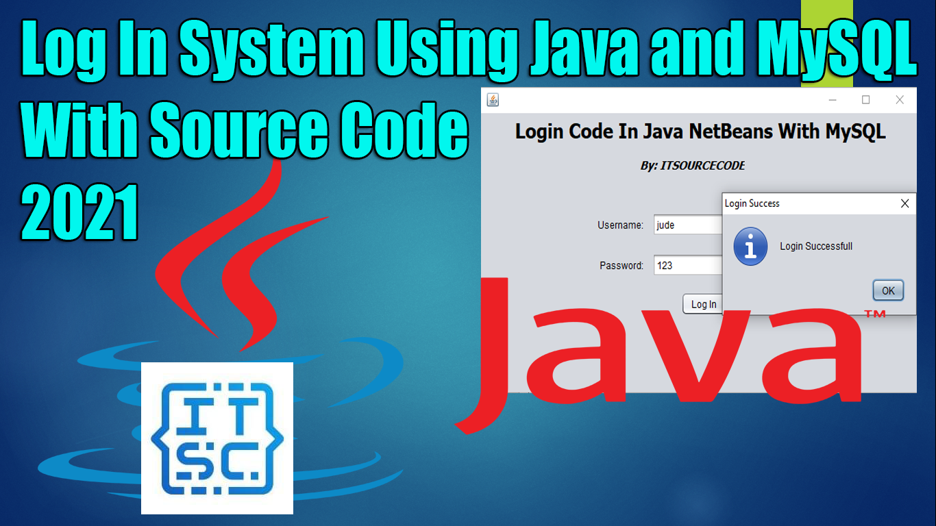 Login Code In Java NetBeans With MySQL With Source Code