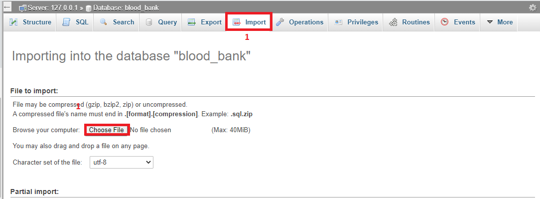 Import Database Online Blood Bank Management System in PHP with Source Code