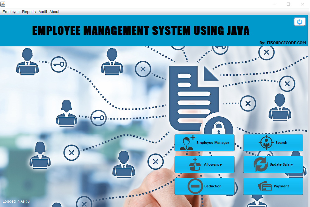 employee management system project in java output