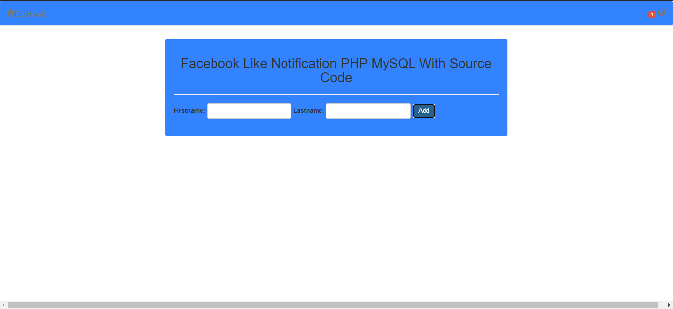 facebook notification output