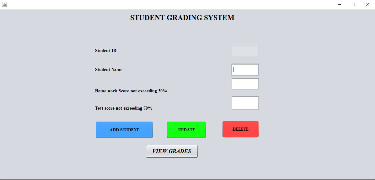 student grading output