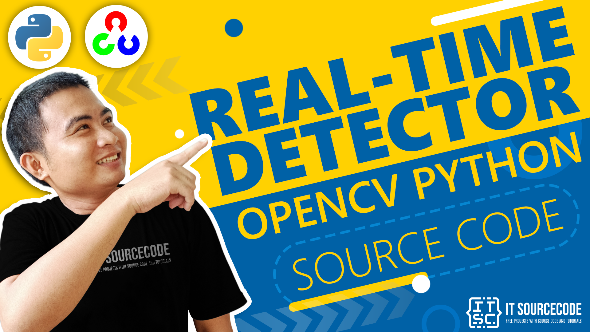 Real-Time Human Body Detector OpenCV Python With Source Code