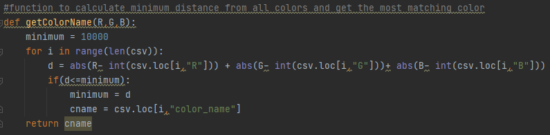 color detection color name