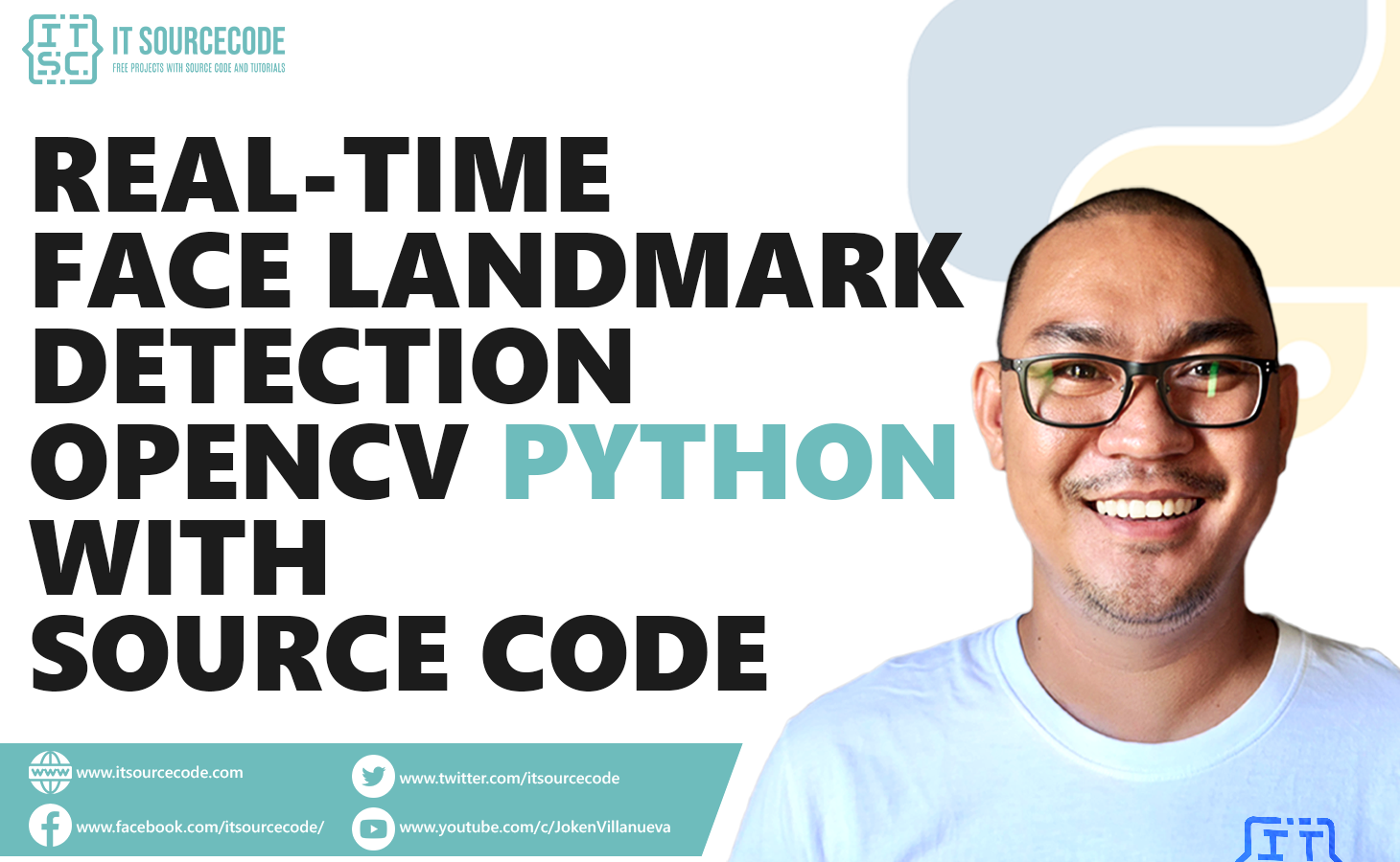 Real-Time Face Landmark Detection OpenCV Python With Source Code