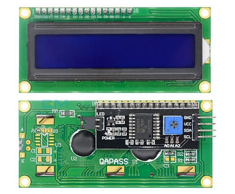 LCD with I2C For RFID Door Lock Using Arduino Project with Data Logging in Python