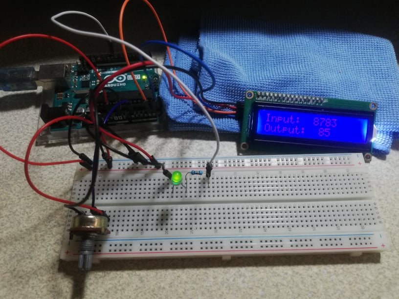 Potentiometer Arduino project actual testing
