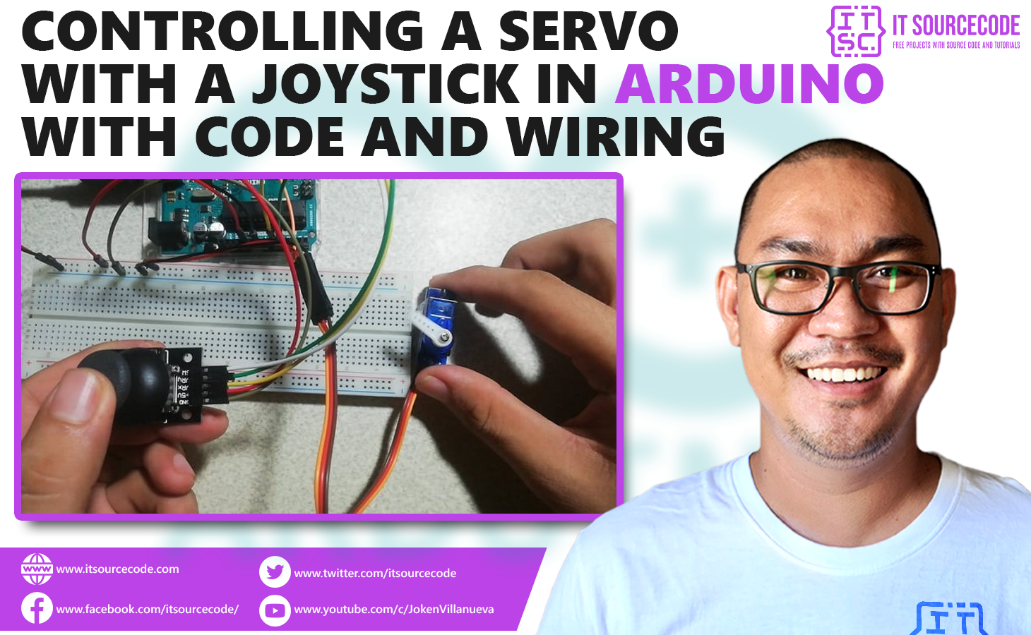 Controlling a Servo with Joystick in Arduino - Code and Wiring Diagram