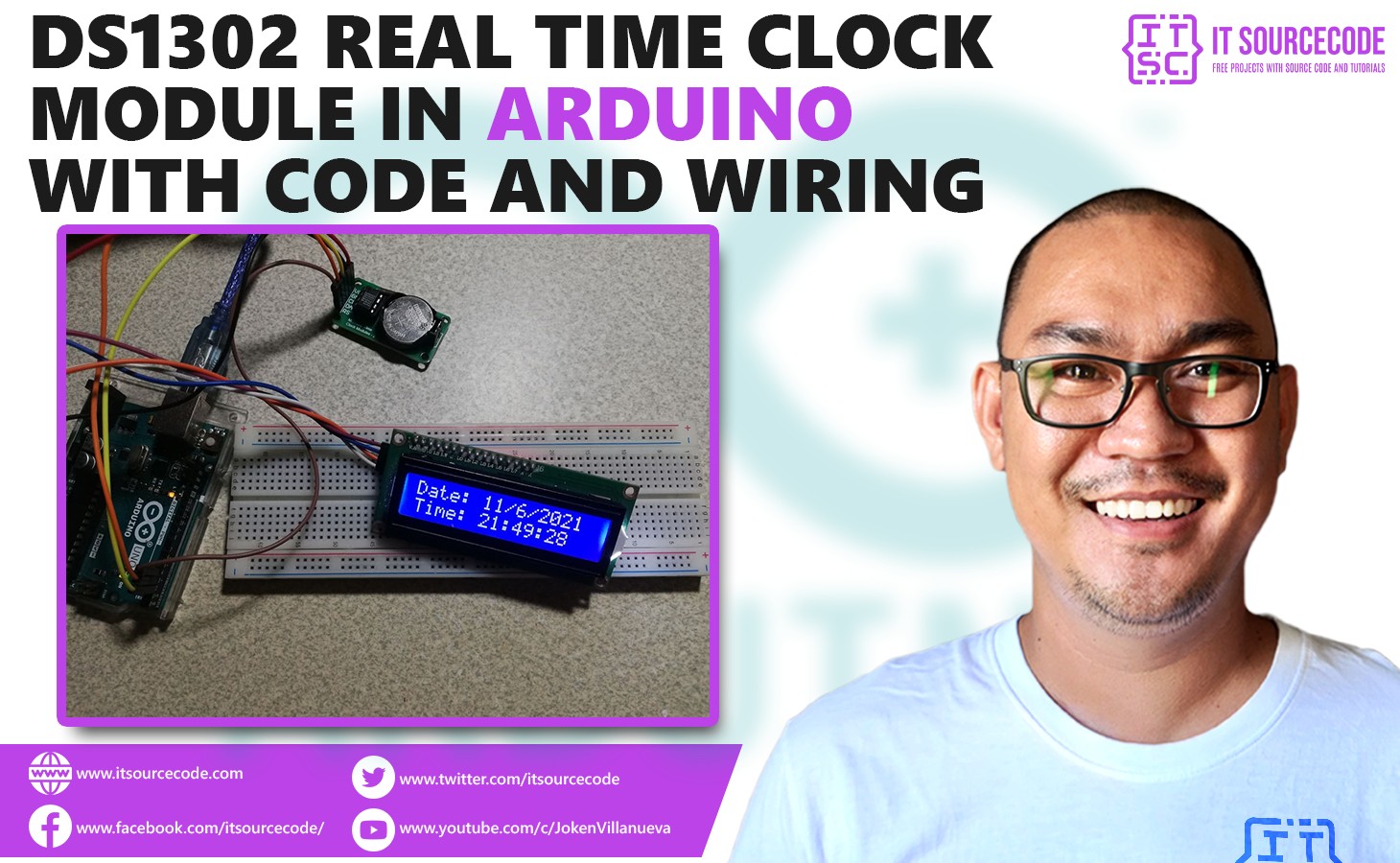 DS1302 Real Time Clock Module in Arduino with Code and Wiring
