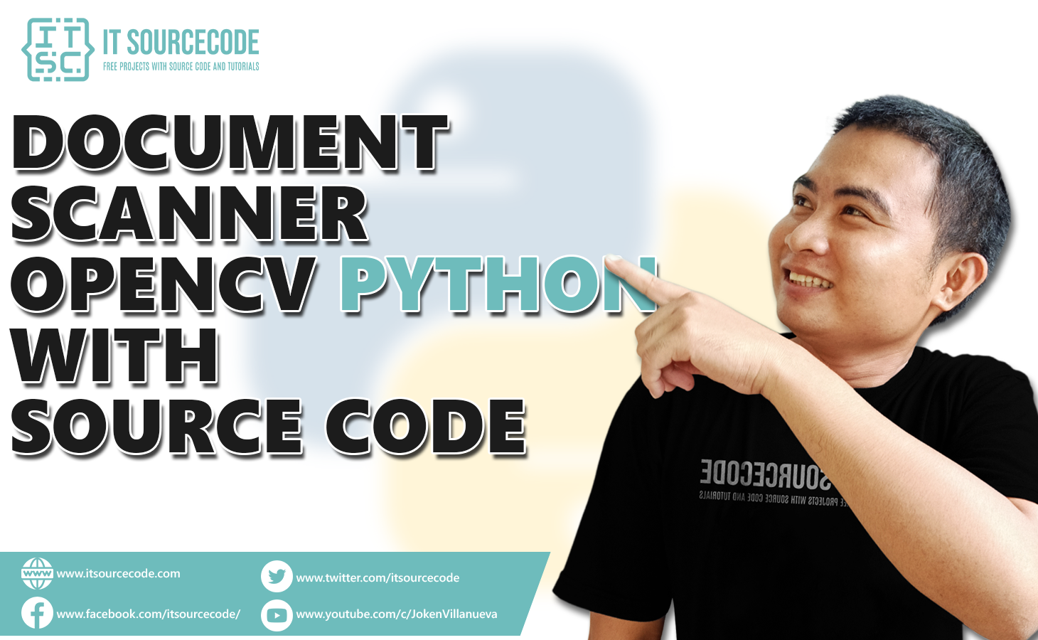 Document Scanner OpenCV Python With Source Code