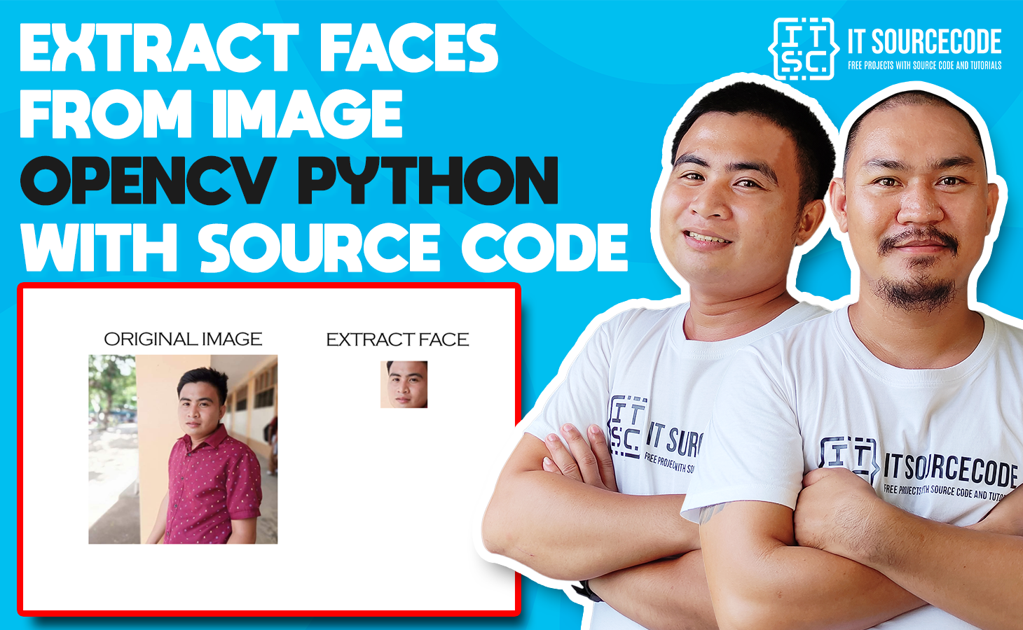 Extract Faces From Image OpenCV Python with Source Code