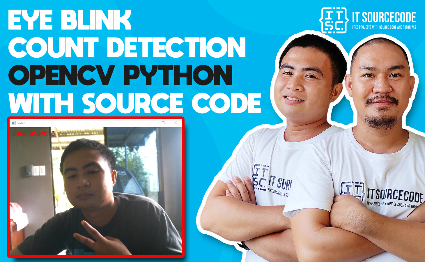 Eye Blink Counting Detection OpenCV Python With Source Code