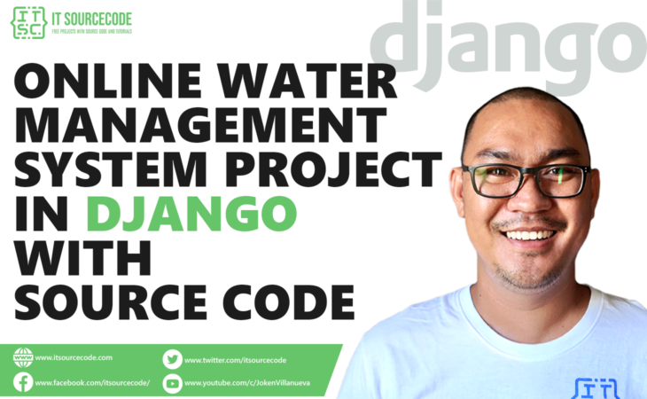 Online Water Management System Project in Django with Source Code