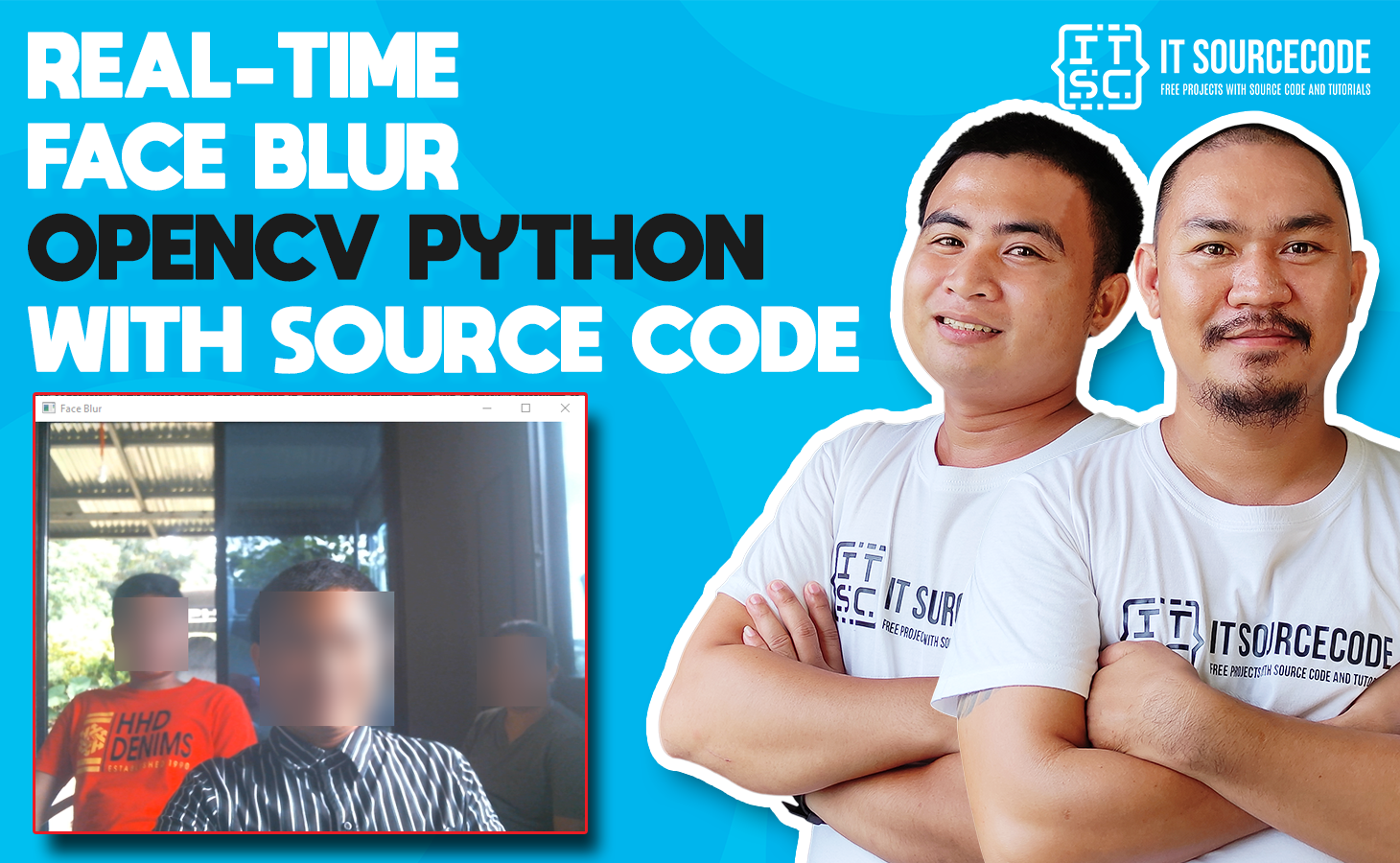 Real-Time Face Blur OpenCV Python With Source Code