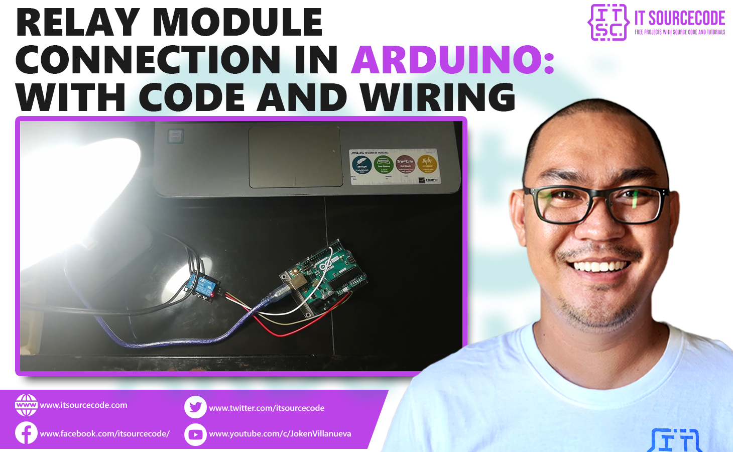 Relay Module Connection in Arduino - Code and Wiring diagram