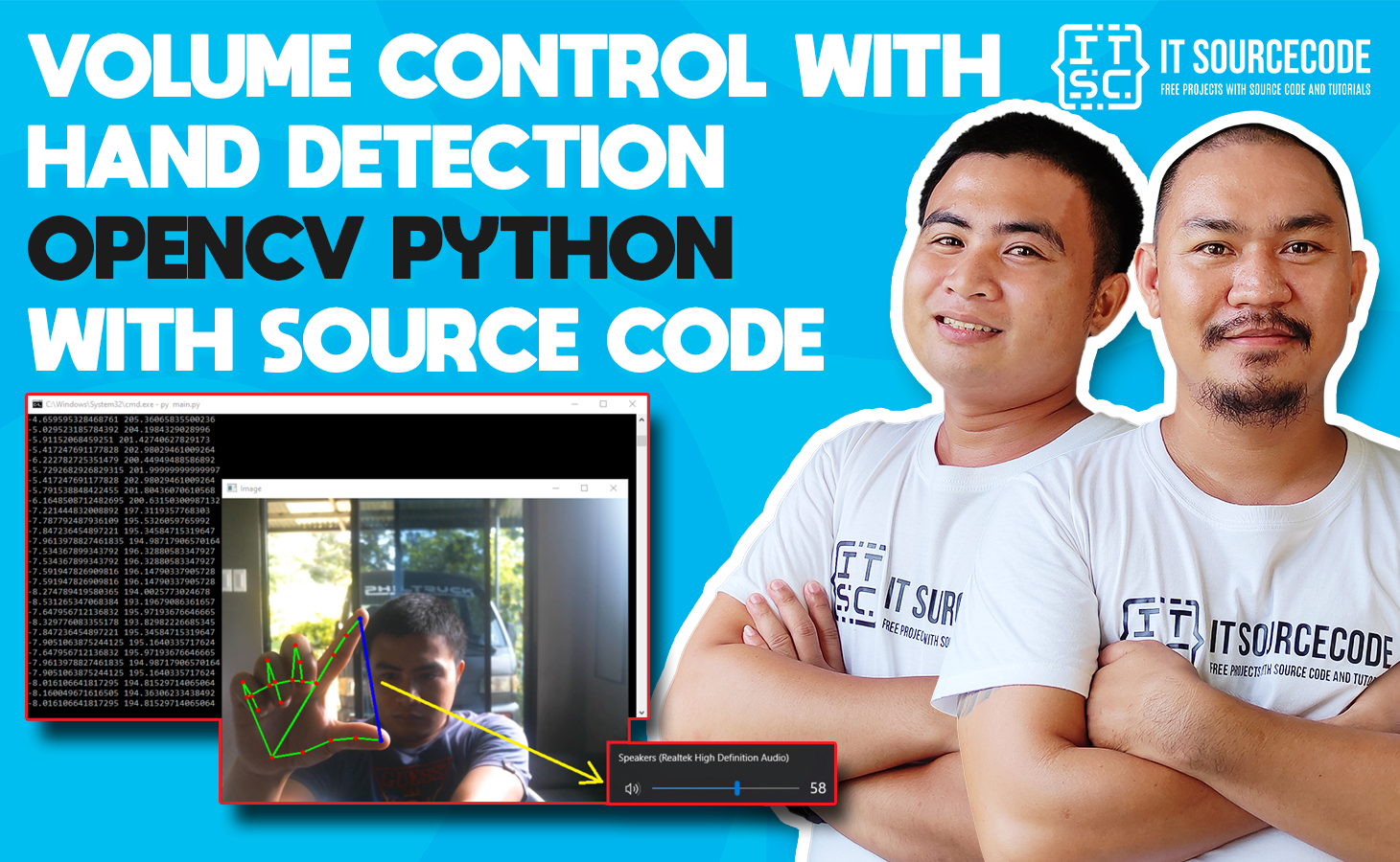Volume Control With Hand Detection OpenCV Python With Source Code