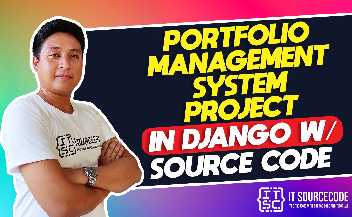 portfolio management system project in django with source code