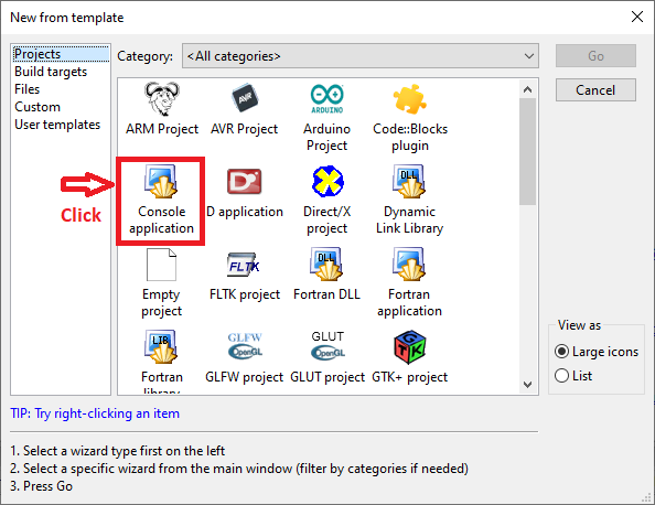 Click Console for Inventory Management System Project in C Language with Source Code