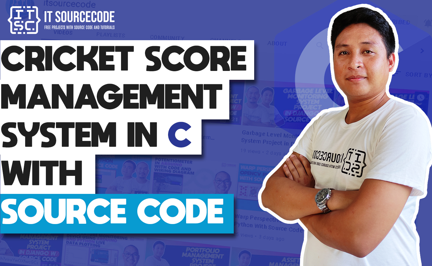 Cricket Score Management System in C with Source Code