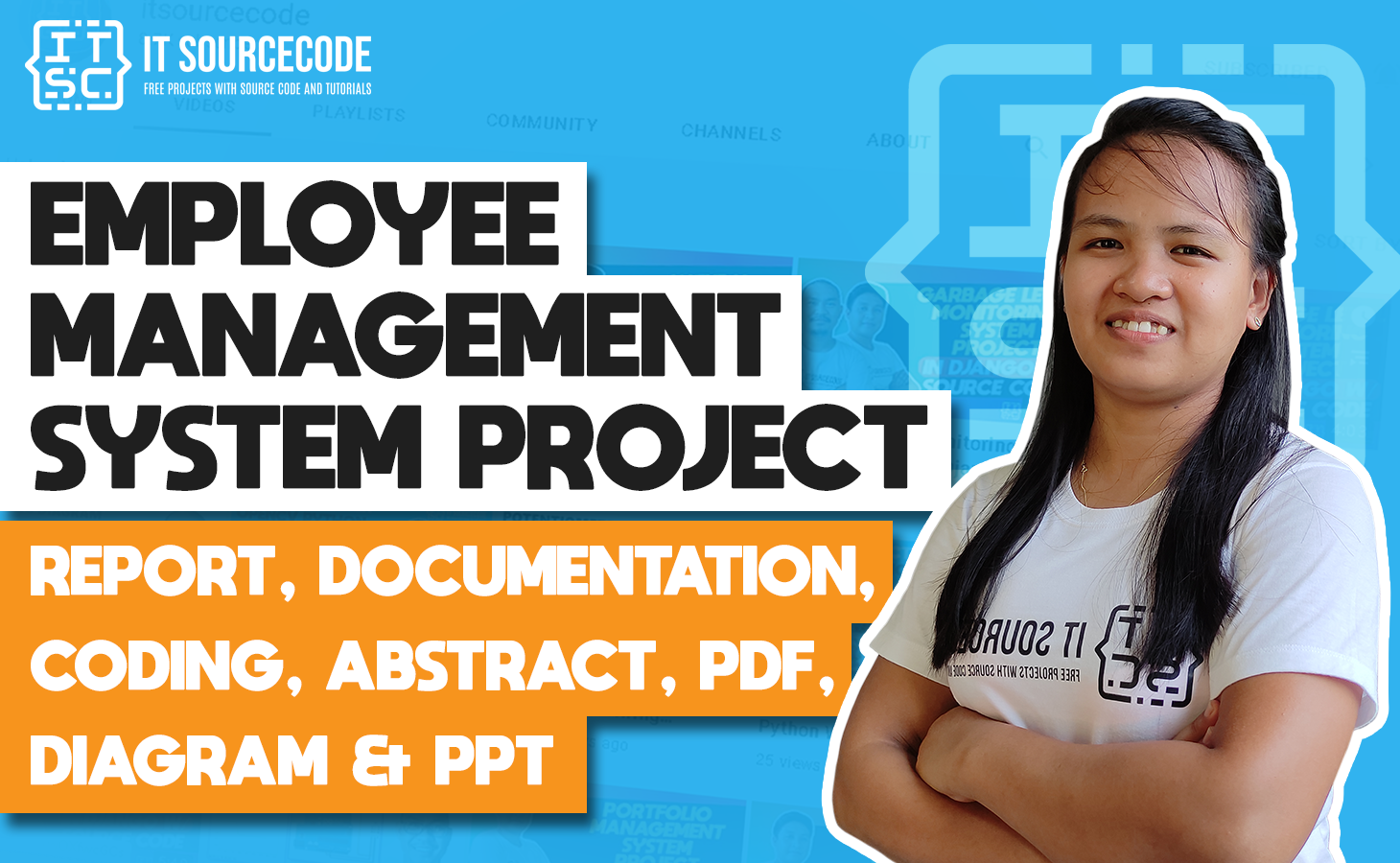 Employee Management System - report, documentation, coding, abstract, pdf, diagram & ppt