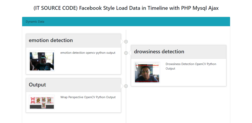 Facebook Style Load Data in Timeline Output