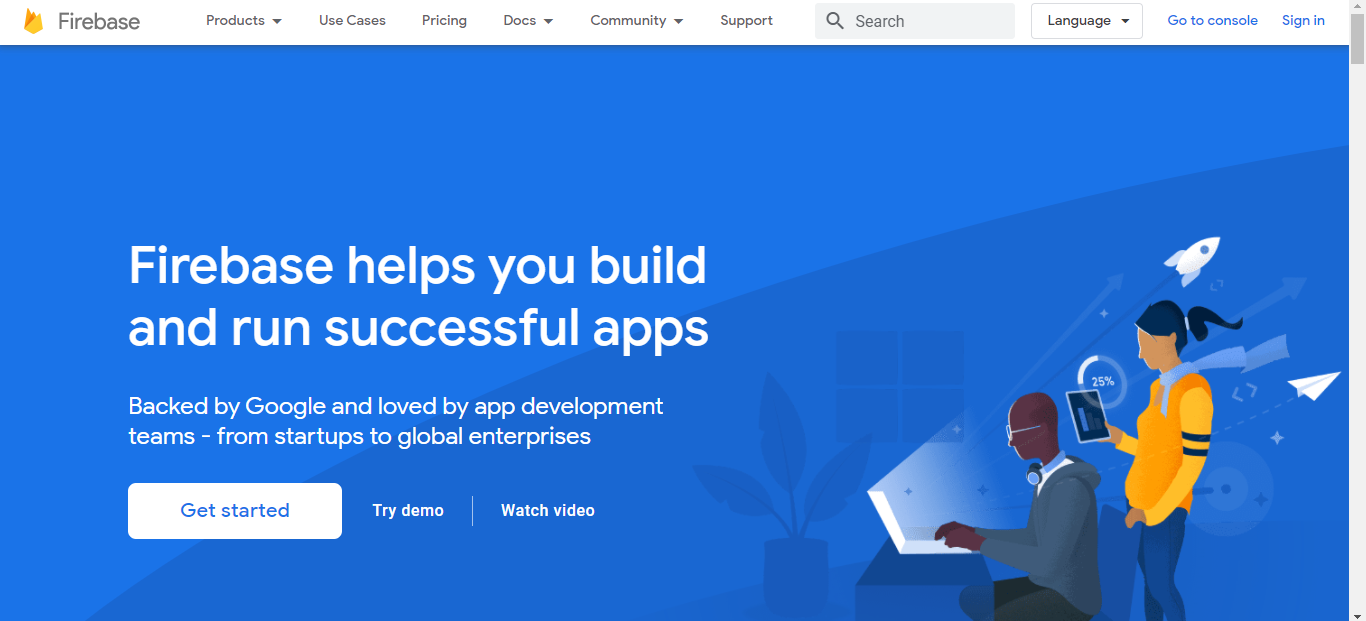 Firebase Login and Signup page