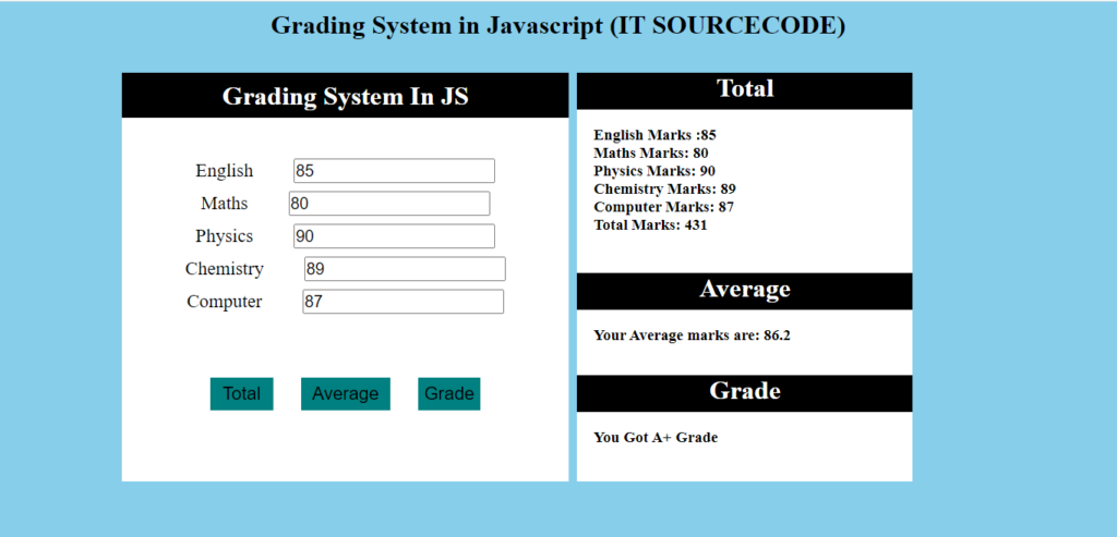 Grading System In Javascript Output