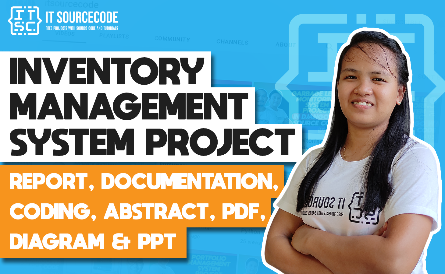 Inventory Management System - report, documentation, coding, abstract, pdf, diagram & ppt
