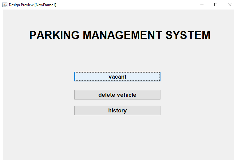 Parking Management System Project In Java Output