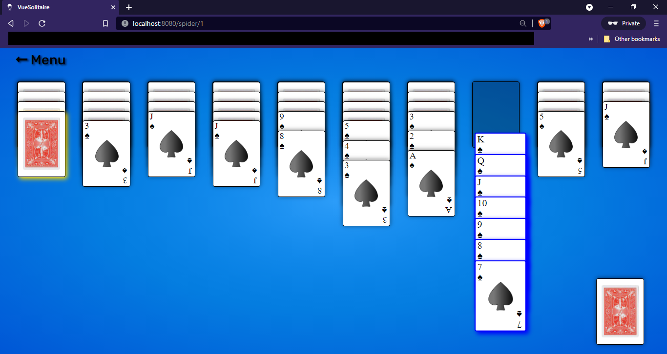 Solitaire Card game sample