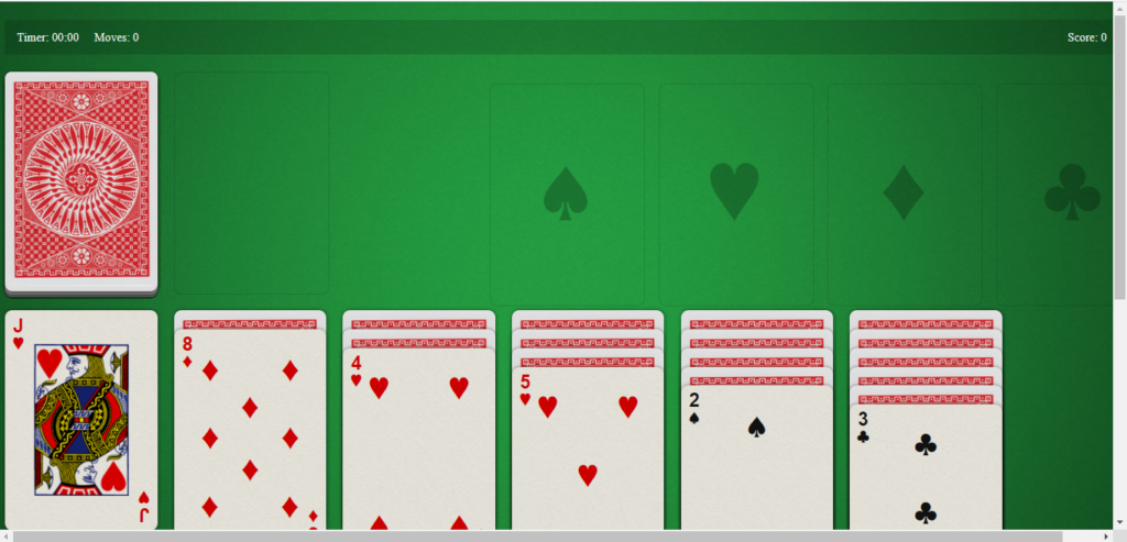 Solitaire Javascript Code Output