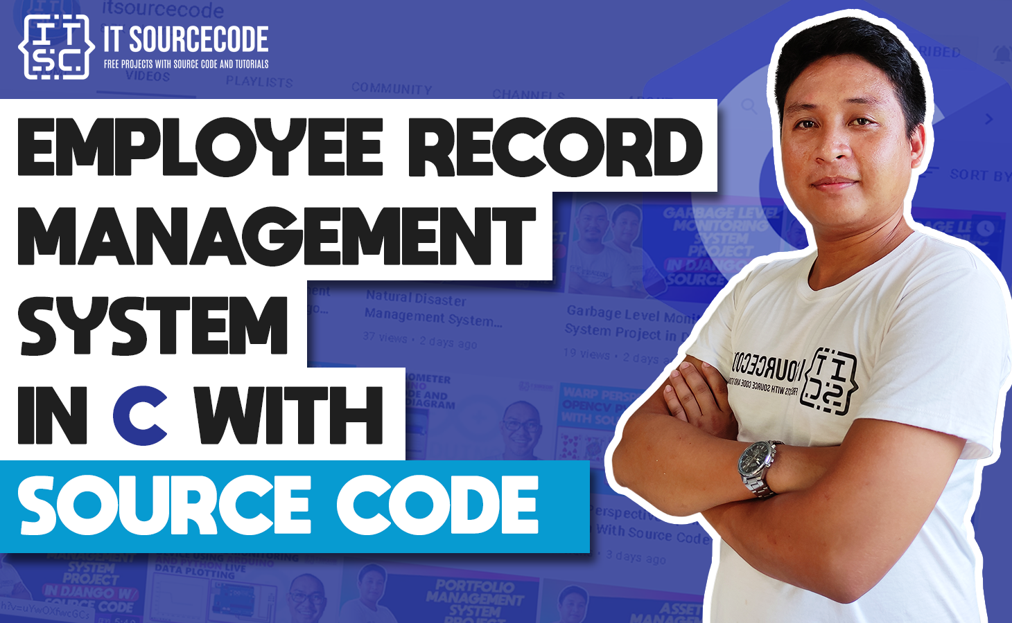 employee record management system in c with SOurce Code
