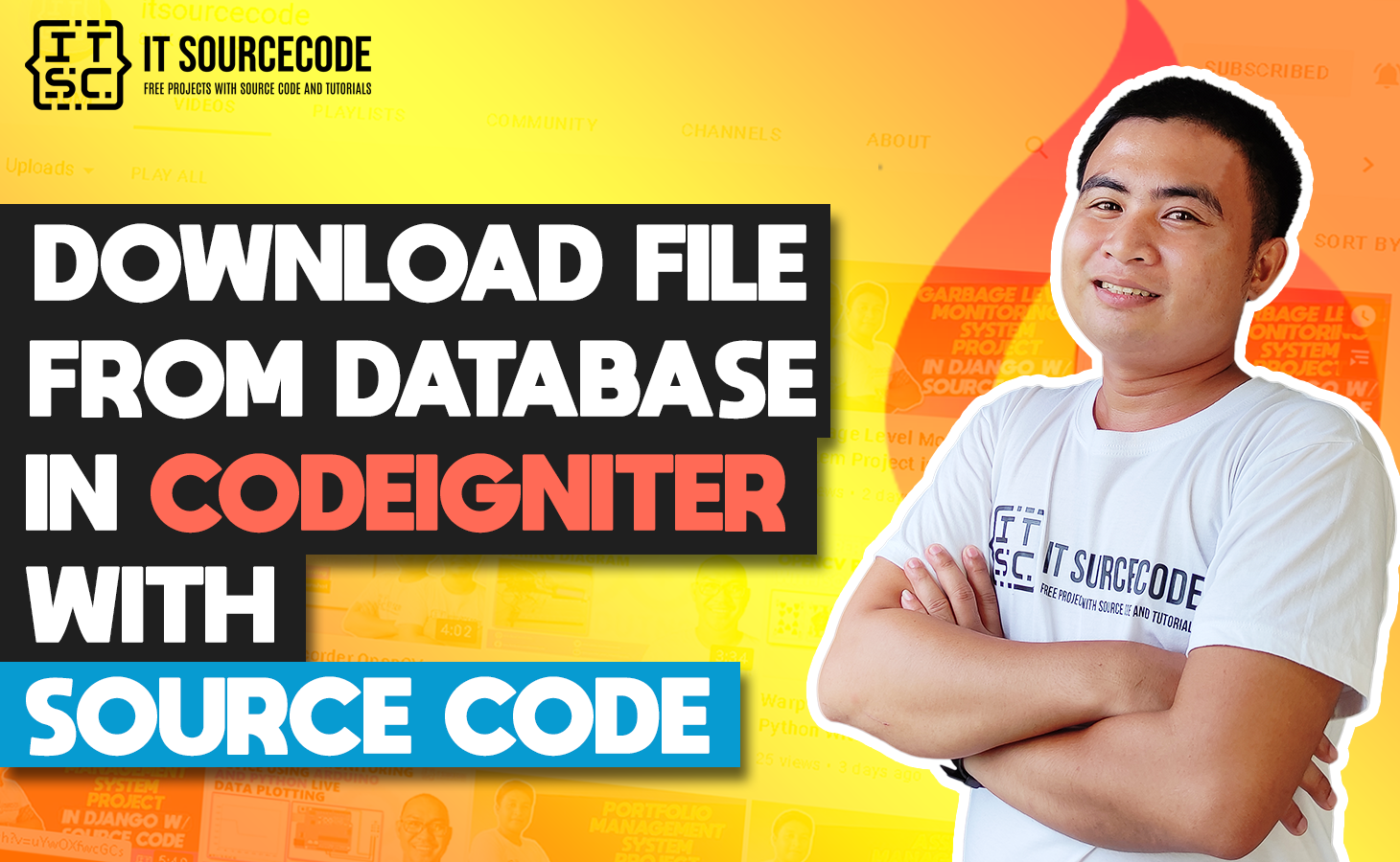 CodeIgniter Download File From Database With Source Code