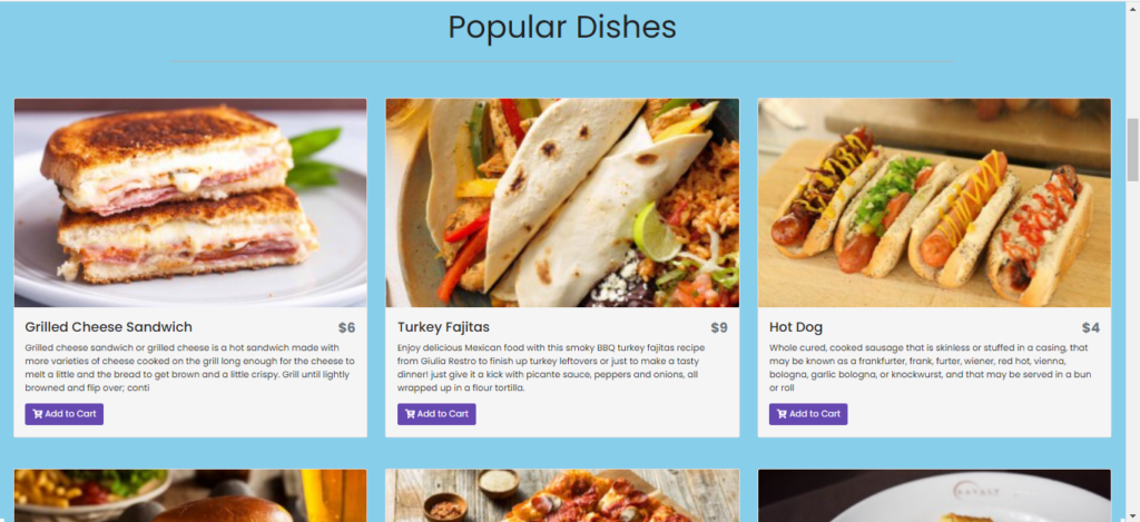 Online Food Ordering System In CodeIgniter Customer Side