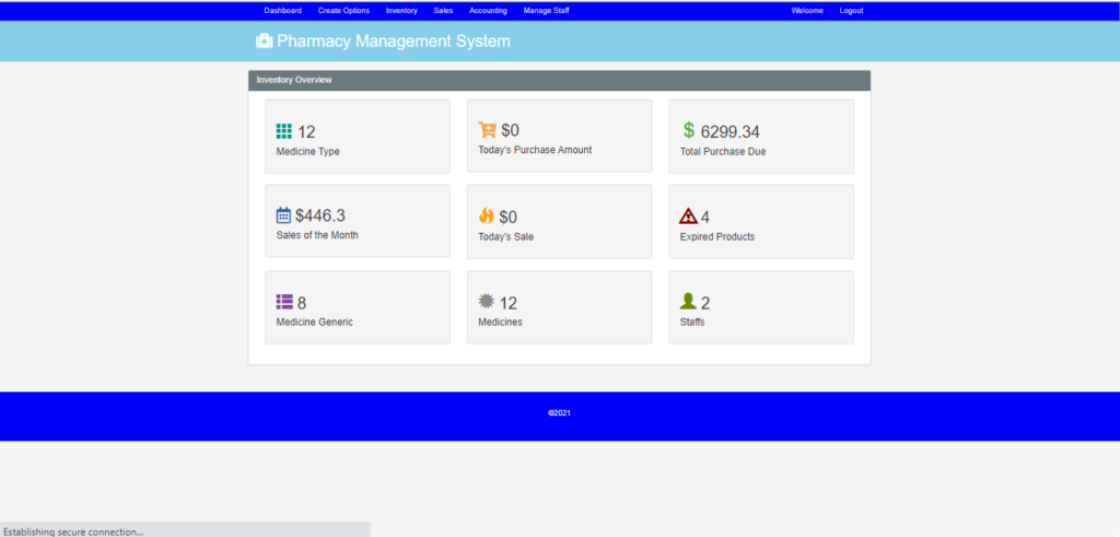 Pharmacy Management System In CodeIgniter Admin Panel