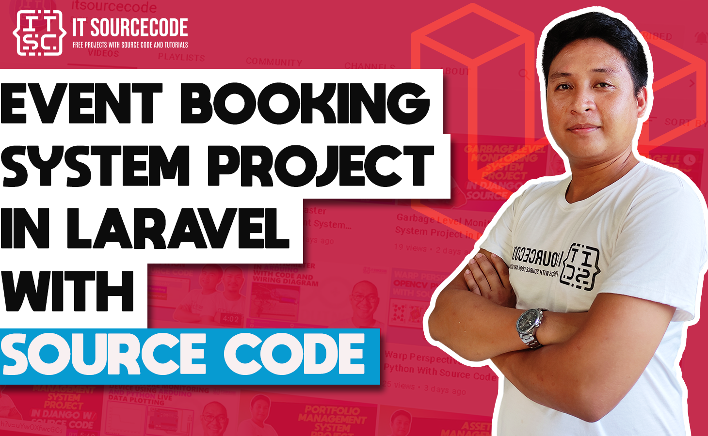 Event Booking System Project in Laravel with Source Code